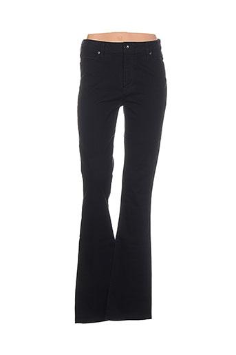 denim studio pantalons femme de couleur noir