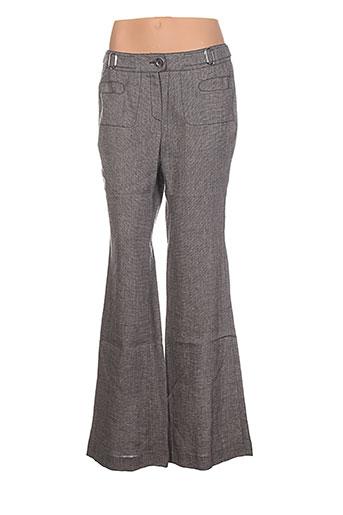 nathalie chaize pantalons femme de couleur gris
