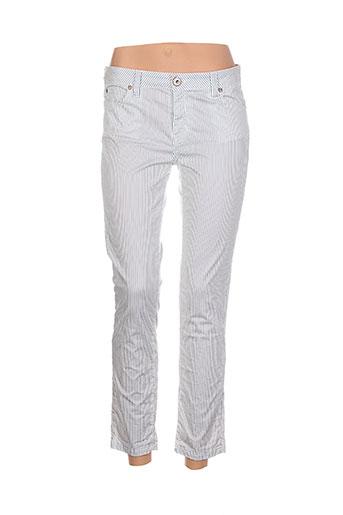 denim studio pantalons femme de couleur bleu
