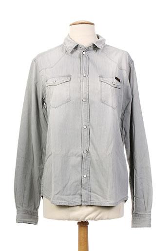teddy smith chemises fille de couleur gris