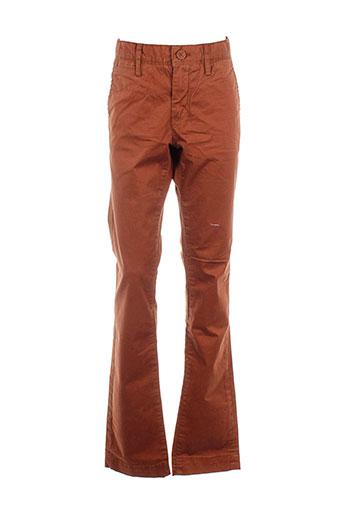 teddy et smith pantalons et decontractes garcon de couleur orange