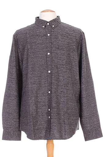 bellfield chemises homme de couleur gris