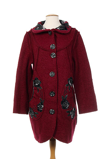c.c.crea manteaux femme de couleur rouge
