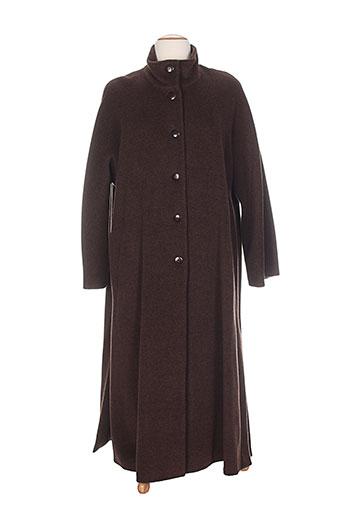 gerard pasquier manteaux femme de couleur marron