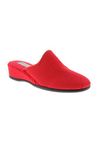 pifer pantoufle femme de couleur rouge