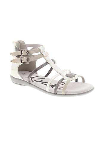 kouki sandales et nu et pieds fille de couleur gris