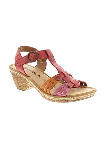 remonte sandales et nu et pieds femme de couleur rouge