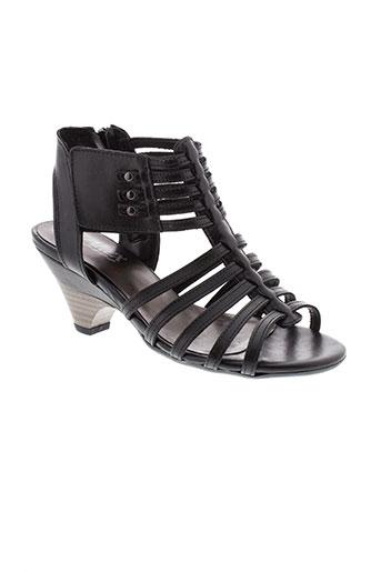 altex sandales et nu et pieds femme de couleur noir