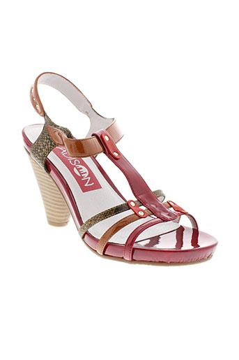 madison sandales et nu et pieds femme de couleur rouge