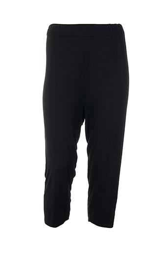 mankoë pantalons femme de couleur noir
