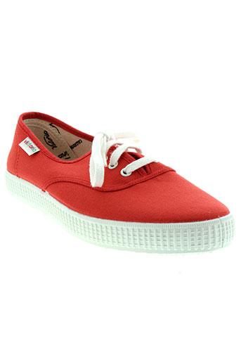 victoria chaussures unisexe de couleur rouge