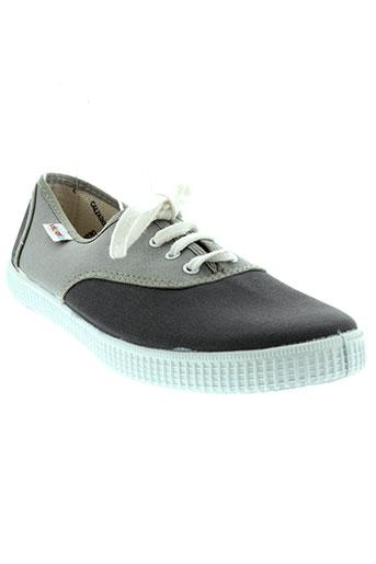 victoria chaussures unisexe de couleur gris