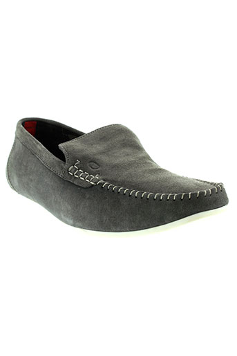 base et london mocassins homme de couleur gris