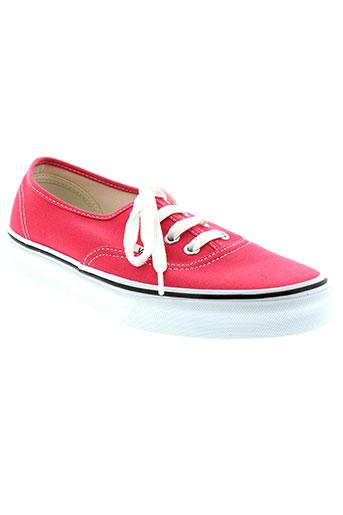 vans chaussures femme de couleur rose
