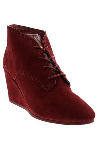 eleven paris chaussures femme de couleur rouge