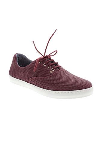 mascaret chaussures homme de couleur rouge
