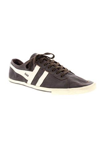 gola chaussures homme de couleur marron