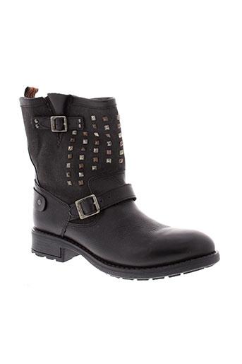 pepe et jeans boots femme de couleur noir