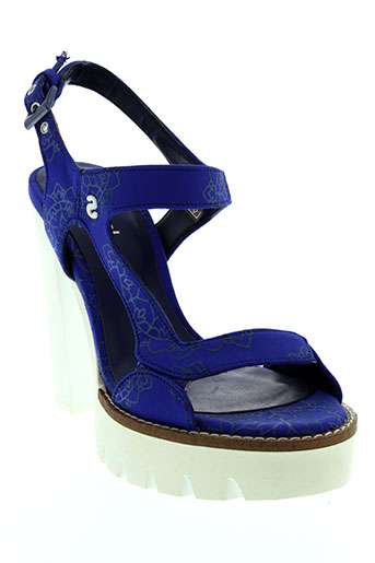 desigual sandales et nu et pieds femme de couleur bleu
