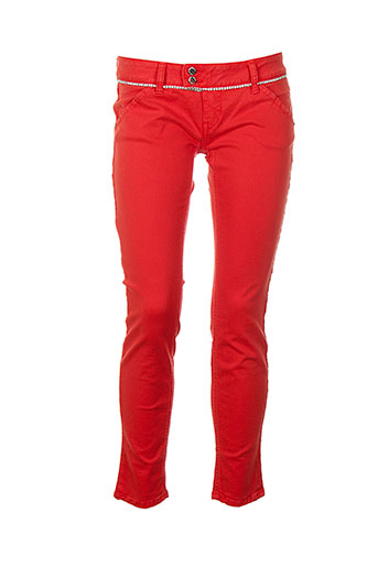 met in jeans jeans femme de couleur rouge