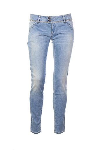 met in jeans jeans femme de couleur bleu