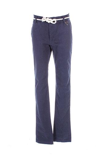 eleven et paris pantalons et decontractes homme de couleur bleu