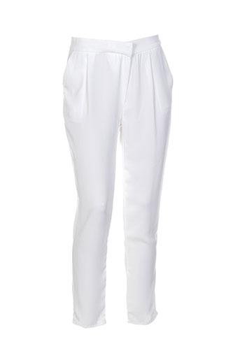 glüen pantalons femme de couleur blanc