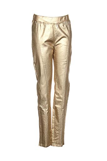 molly bracken pantalons femme de couleur jaune