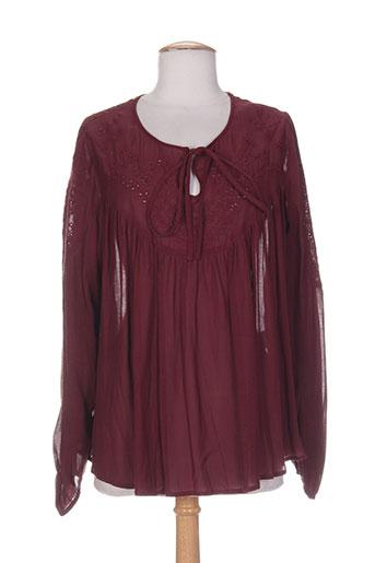 bel air t-shirts femme de couleur rouge