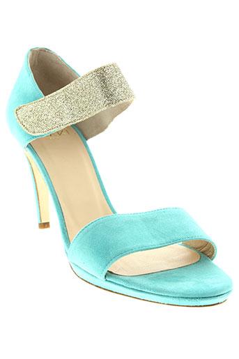 anaki sandales et nu et pieds femme de couleur bleu