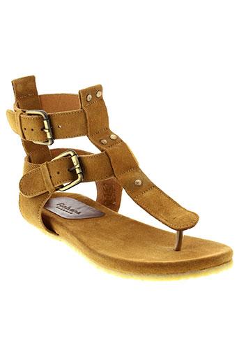 rabens et saloner sandales et nu et pieds femme de couleur marron