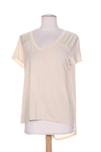 ams pure t et shirts et tops femme de couleur beige