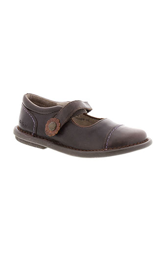 kickers ballerines fille de couleur marron