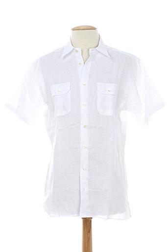 gran sasso chemises homme de couleur blanc