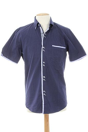 dario beltran chemises homme de couleur bleu