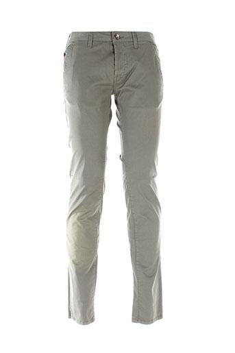 gas pantalons homme de couleur vert