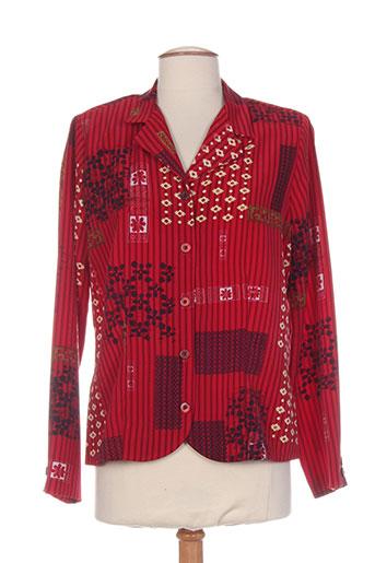 brigitte saget vestes femme de couleur rouge
