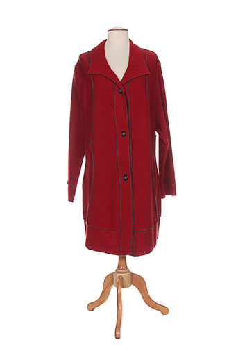 telmail manteaux femme de couleur rouge