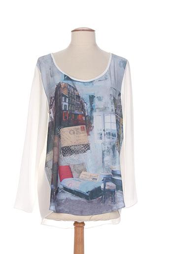 made in sens chemises femme de couleur bleu