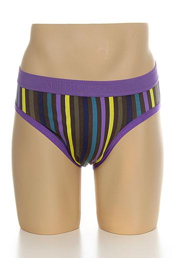 arthur slips et culottes homme de couleur violet