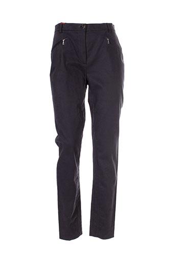 bernard zins pantalons femme de couleur gris