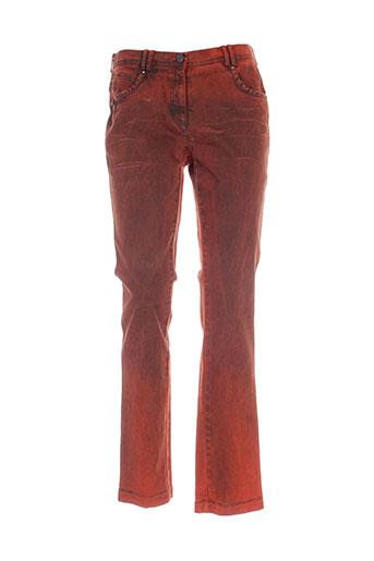 o.k.s pantalons femme de couleur marron