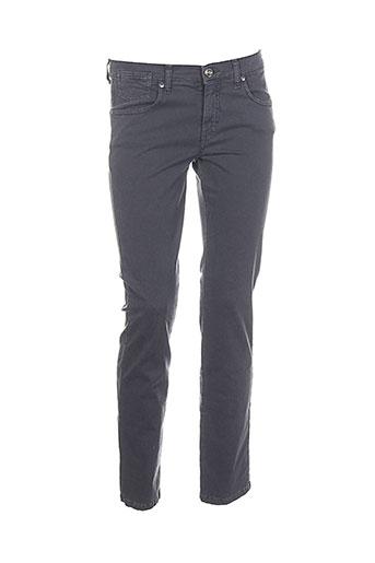 piu piu pantalons femme de couleur gris