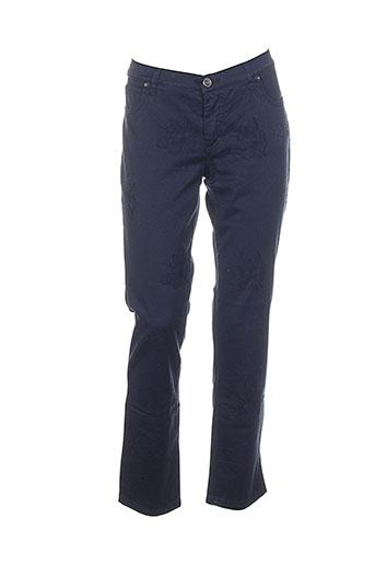 piu piu pantalons femme de couleur bleu