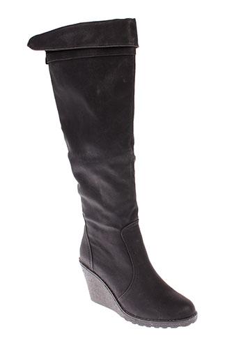 super et mode bottes femme de couleur noir