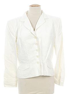 Veste chic / Blazer blanc ANNE ELISABETH pour femme