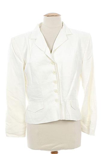 anne elisabeth vestes femme de couleur blanc