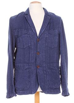 Veste simili cuir bleu R95TH pour homme