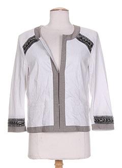 Veste casual blanc HELENA SOREL pour femme