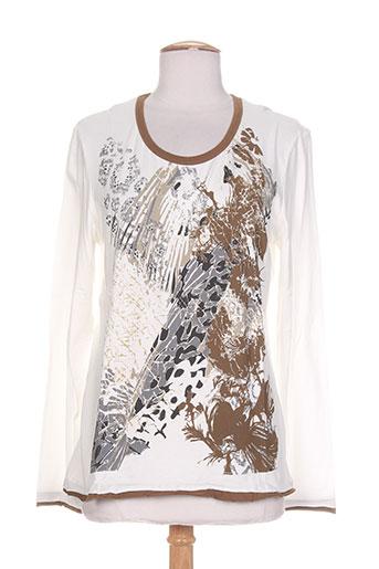 carole richard t-shirts femme de couleur blanc